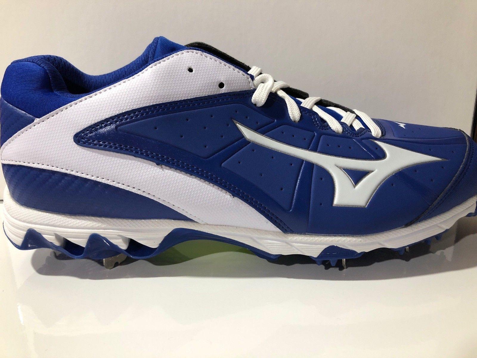 cae8bff04 Womens Softball Cleats 11.5 Mizuno 9-Spike Swift Royal Blue   White 320510