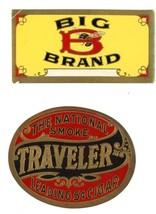 Traveler Big brand vintage cigar labels National Smoke ephemera advertising - $7.00