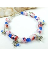 Patriotic red white and blue beaded bracelet with silver stars 68be803c 1  thumbtall