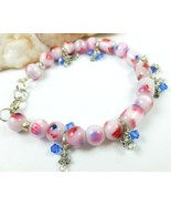Red White and Blue American Flag Patriotic Bead... - $15.00