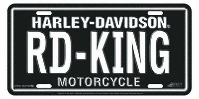 Chroma Graphics 1895 Auto Tag Harley Road King [Automotive] Harley-Davidson