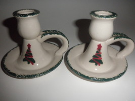 christmas tree candle holders set of 2 - $14.95