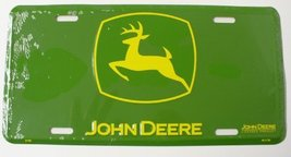 "John Deere Yellow On Green Logo 6"" x 12"" Emboss... - $5.93"