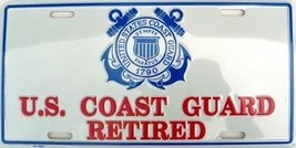 US Coast Guard Retired License Plate - $7.91
