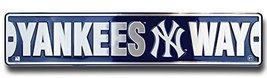 NY YANKEES WAY STREET SIGN,Metal Tin New York B... - $12.86