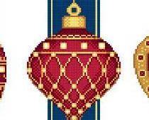 Red Faberge Christmas Ornaments Collection I cross stitch chart Solaria Designs