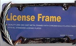 Wreath Black License Plate Frame (Black Painted... - $10.86