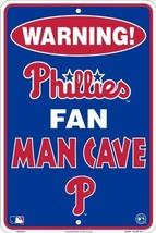 Philadelphia Phillies Fan Man Cave Metal Sign 8... - $5.93