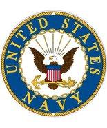 Navy Military Logo Aluminum Sign - US Service B... - $12.86