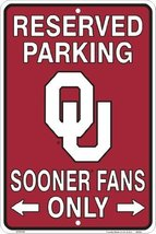 Oklahoma Sooners, Sooner Fans Only, Parking Sig... - $5.93