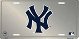 New York NY Yankees MLB Chrome License Plate Pl... - $8.90