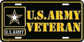 U.S. Army Veteran License Plate - $9.89