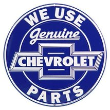 Genuine Chevrolet Parts Round Metal Sign [Kitchen] - $10.88