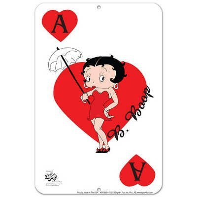 Betty Ace of Hearts Tin Sign [Kitchen]