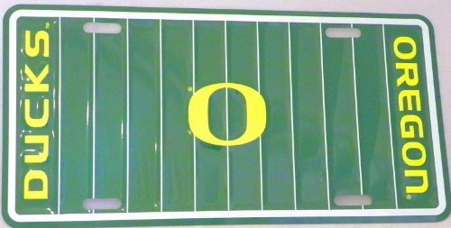 Oregon Ducks License Plate (Football Field) [Misc.]