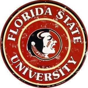 FSU Collegiate Embossed Metal Circular Sign CS60098 [Kitchen]