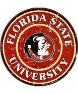 FSU Collegiate Embossed Metal Circular Sign CS6... - $10.88