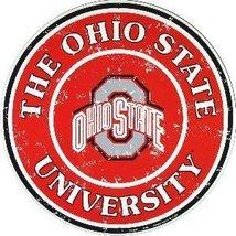 Ohio State Buckeyes 12 Inch Embossed Metal Nost... - $10.88