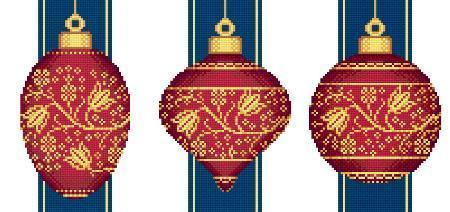 Red faberge christmas ornaments collection 2 1450
