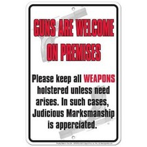 Guns Are Welcome Tin Sign [Kitchen] - $6.92