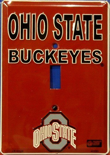 Ohio State University Buckeyes Collegiate Aluminum Novelty Single Light Switc...