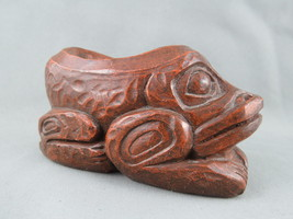 Vintage Haida Resin Frog Figurine - By Thorn Arts Nanaimo !! - $35.00