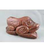 Vintage Haida Resin Frog Figurine - By Thorn Arts Nanaimo !! - $35.00