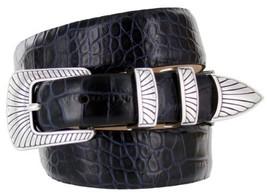 Nevada Men's Designer Genuine Italian Calfskin Leather Dress Belt (46, Alliga... - $29.20
