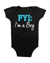 Funny Onesie Fyi I'm A Boy Baby Romper Baby Shower Gifts #Baby Newborns New Mom - $15.00