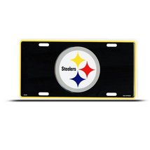 Steelers Pittsburgh Metal Nfl Sport License Pla... - $7.91