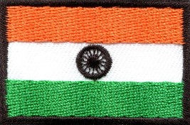 Flag of India Indian Hindu Hindi South Asia applique iron-on patch Mediu... - $2.76