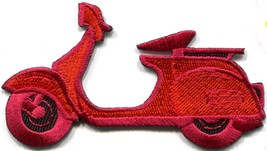 Motor scooter motorcycle cycle bike motorbike applique iron-on patch new... - $2.95