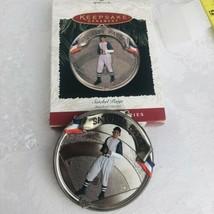 Hallmark Keepsake 1996 Satchel Paige Ornament Collectors Baseball Clevel... - $10.82