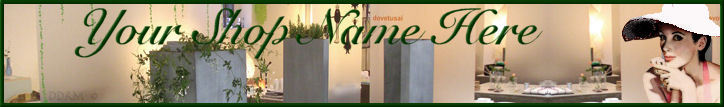 Boutique Shop Green custom web banner G&S