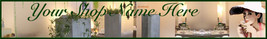 Boutique Shop Green custom web banner G&S - $7.00