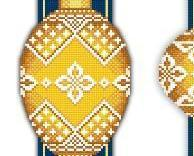 Yellow Faberge Christmas Ornaments Collection III pattern Solaria Designs