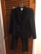 Talbot Women's Navy Blue Wool Stretch  Pant Suit Pants Size 8 Blazer Size 10 - $37.36