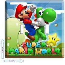 NEW SUPER MARIO YOSHI DOUBLE LIGHT SWITCH COVER... - $11.99