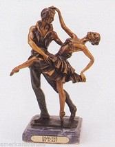 """10""""H Dancers Solid American Bronze Statue Inspired by Louis Icart - $625.00"""