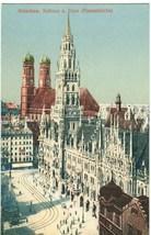 Germany, Munchen, Munich, Rathaus u. Dom (Frauenkirche) early 1900s Post... - $9.99