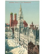 Germany, Munchen, Munich, Rathaus u. Dom (Frauenkirche) early 1900s Post... - $9.99