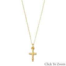 Gold Twist Design Cross Necklace - $42.99