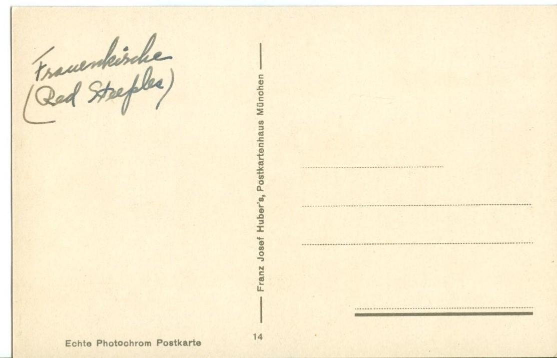 Germany, Munchen, Munich, Rathaus u. Dom (Frauenkirche) early 1900s Postcard