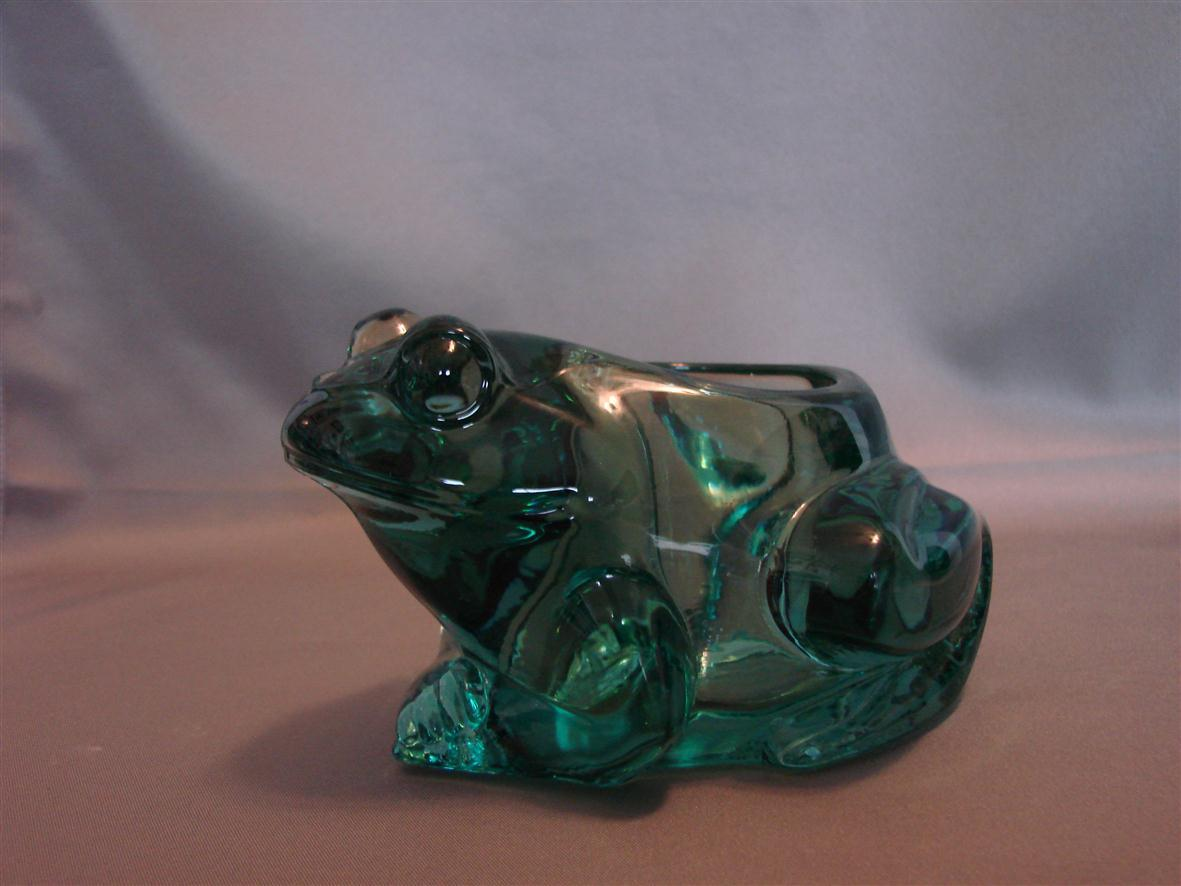 Primary image for Candle-Lite Indiana Glass Frog Candle Holder Green Spanish Figural Votive Pillar