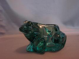 Candle-Lite Indiana Glass Frog Candle Holder Green Spanish Figural Votive Pillar - $11.00