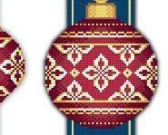 Red Faberge Christmas Ornaments Collection IV cross stitch chart Solaria Designs