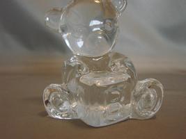 Waterford Crystal Teddy Bear With Alphabet  Block - $30.00