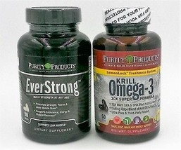 Strong Heart & Muscles Combo - Everstrong and Krill Omega-3 by Purity Products
