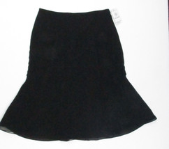 NWT Vera Wang Black Polyester Flared Skirt Size 2 - $32.71
