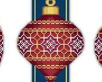 Red Faberge Christmas Ornaments CollectionI V cross stitch chart Solaria Designs